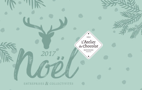 Atelier du Chocolat, noël 2017, identité visuelle, packaging
